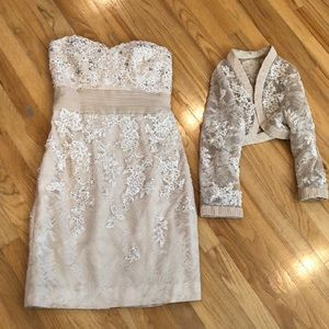 Dresses & Skirts - Gorgeous lace cream and white dress with bolero